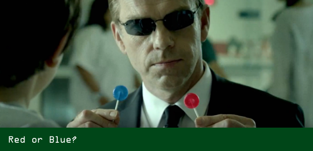 Agent Smith in GE Commercial: Red or Blue