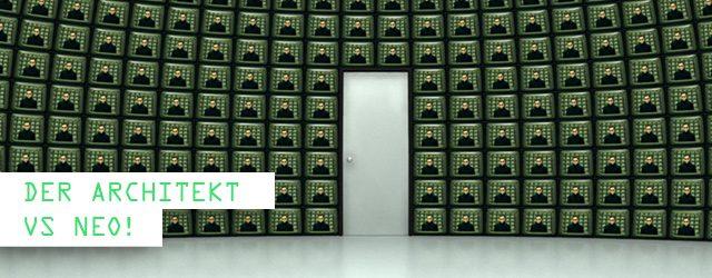 Der Architekt erzählt Neo die Geschichte der Matrix und eröffnet ihm seine Bestimmung